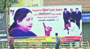 A Poster campaigning for Ms. Jayalalitha as PM